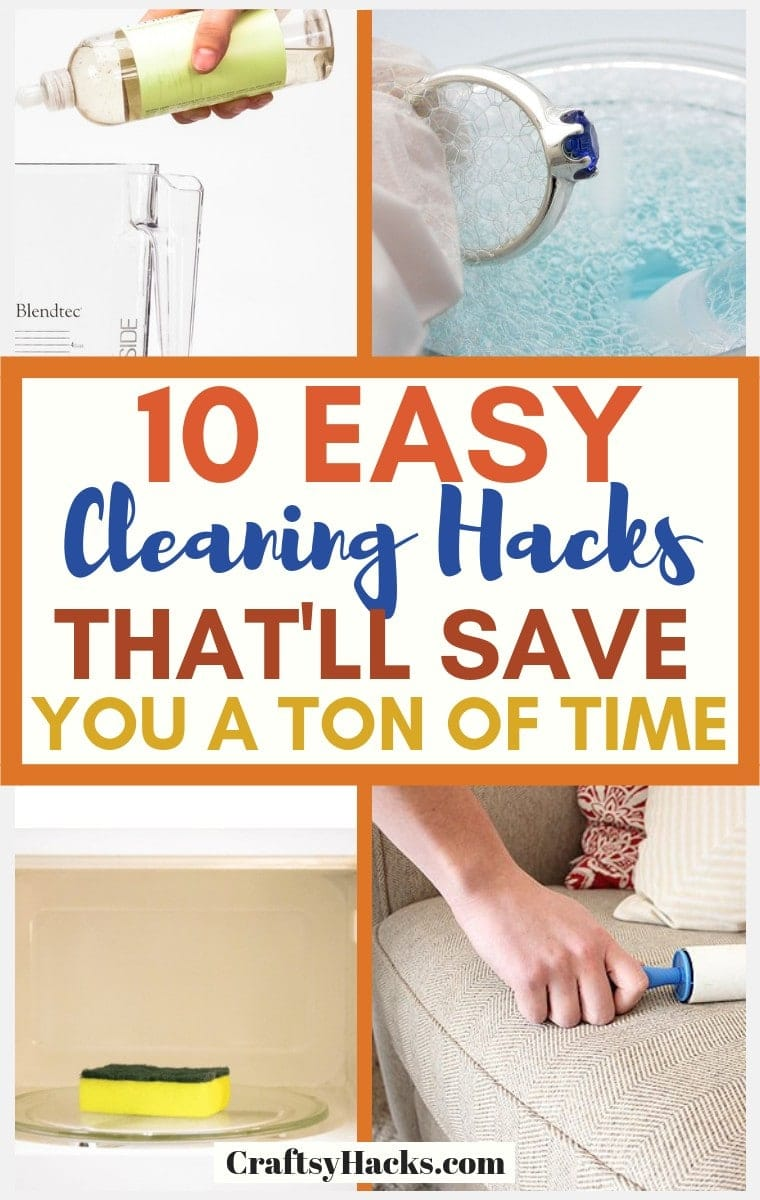10 easy cleaning hacks that will save you a ton of time