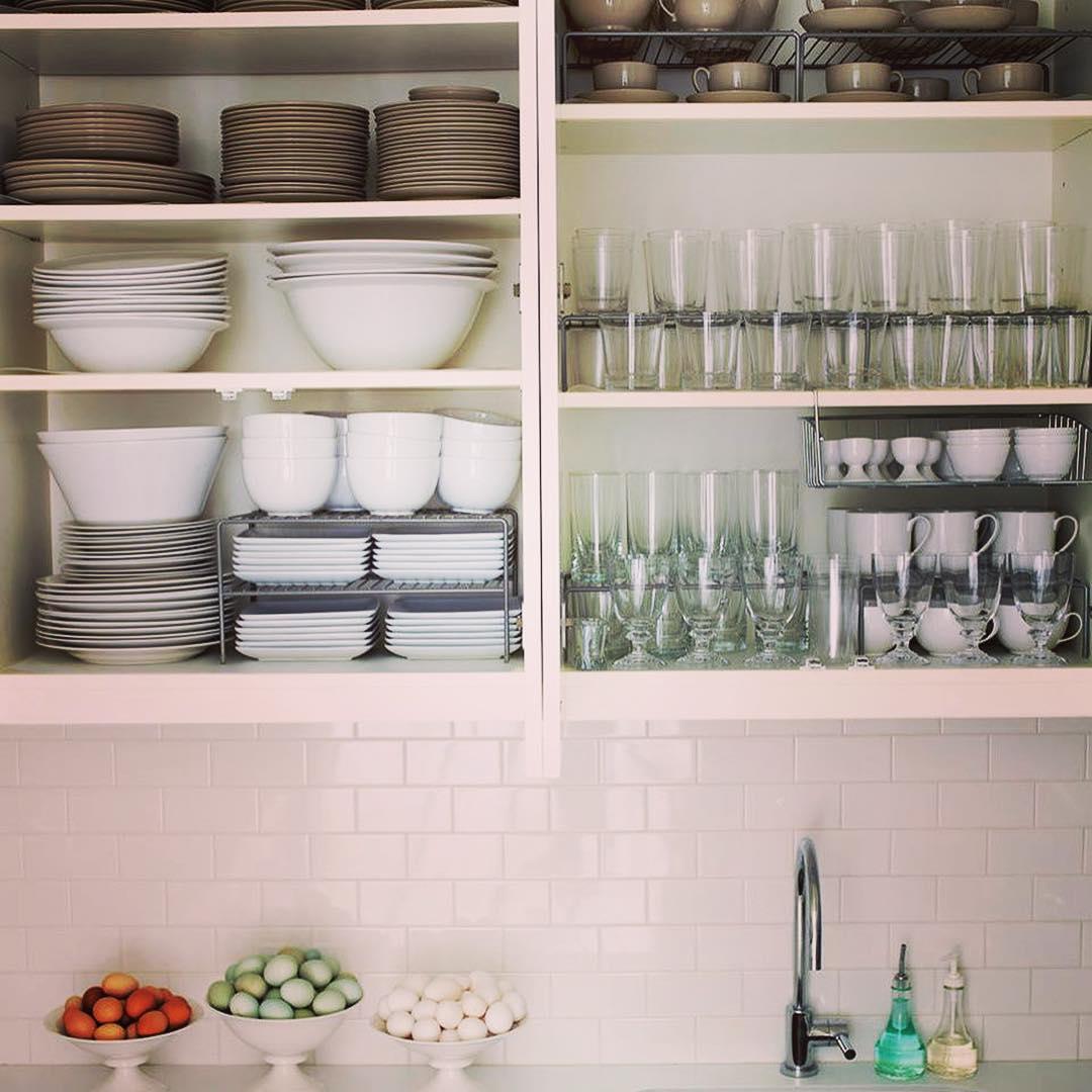 Organisateurs d'armoires de cuisine empilables