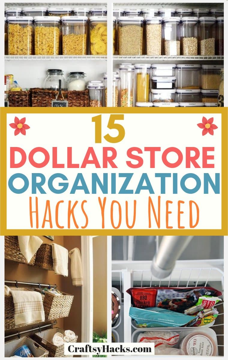 Dollar Store Organization Hacks