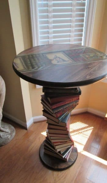 book themed coffee table
