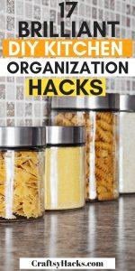 17 brilliant diy kitchen organization hacks