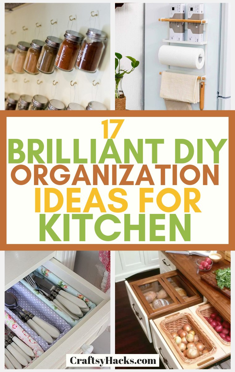 Brilliant DIY Kitchen Organization Ideas