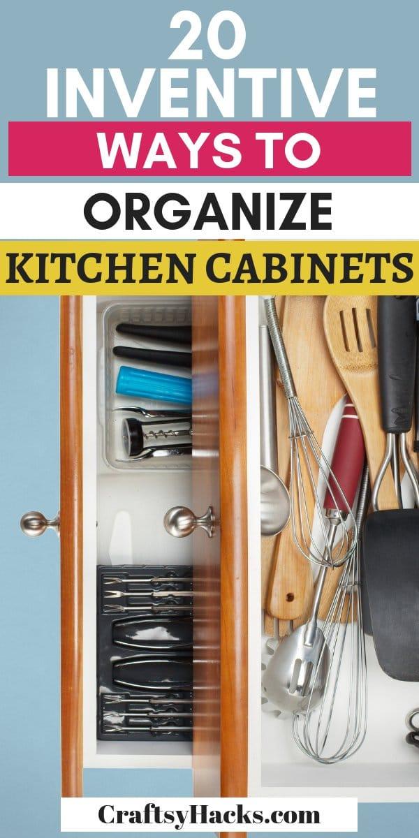 20 façons inventives d'organiser les armoires de cuisine