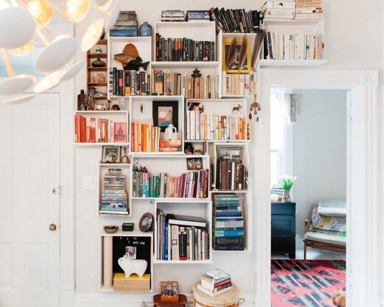 DIY Bookshelves from Old Dressers