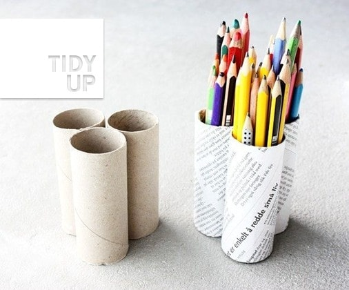 toilet roll pencil holder