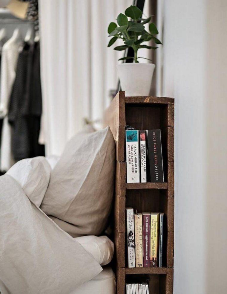 bed frame bookcase
