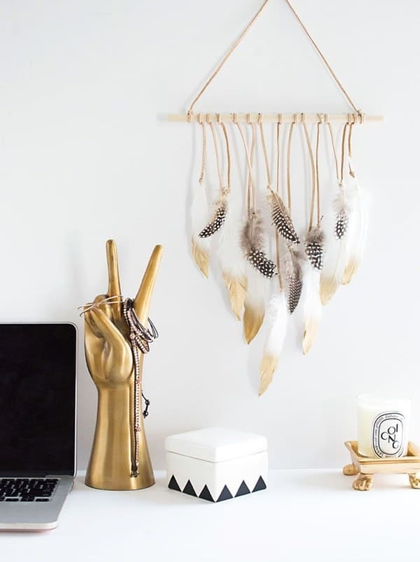 Feathery Hanging Decoration
