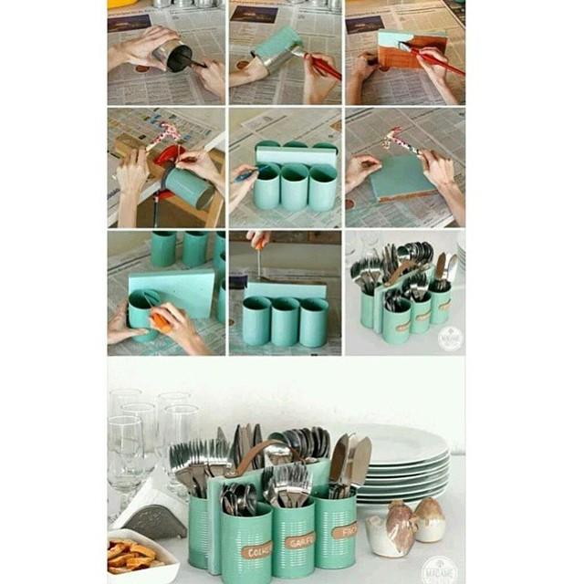 DIY Cutlery Organizer