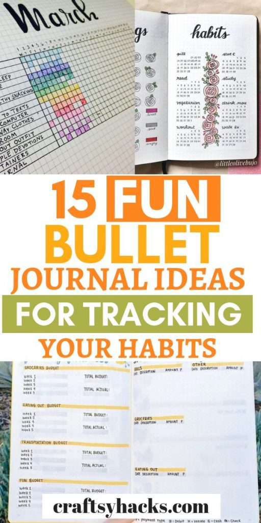 fun bullet journal ideas for tracking your habits
