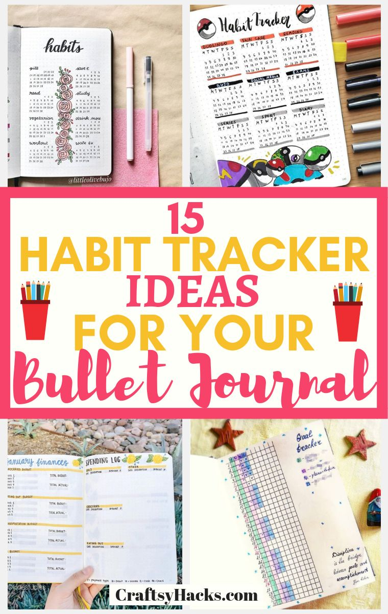 habit tracker ideas for your bullet journal