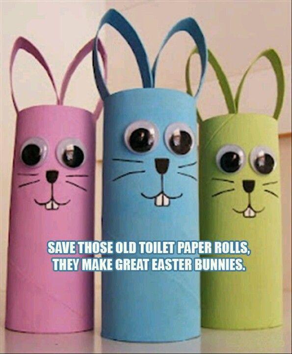 Toilet Paper Easter Bunnies