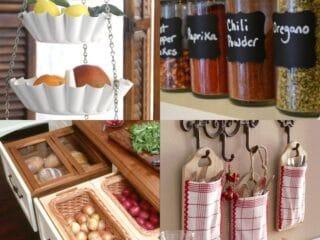 17 Brilliant DIY Kitchen Organization Ideas