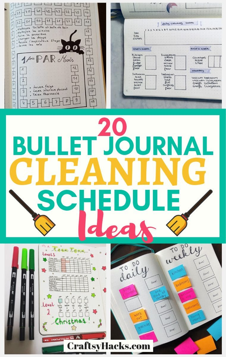 House Cleaning Schedule bullet journal ideas