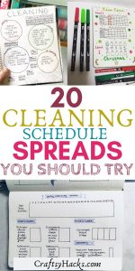 20 cleaning schedule spreads you should try