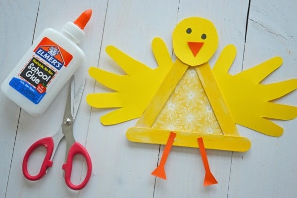 Crafty Popsicle Stick Baby Chick