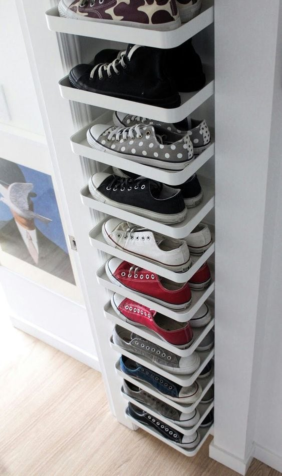 Corner Shelving Unit for Shoes
