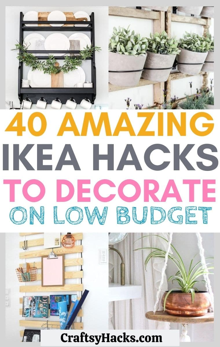 amazing ikea hacks to decorate on low budget