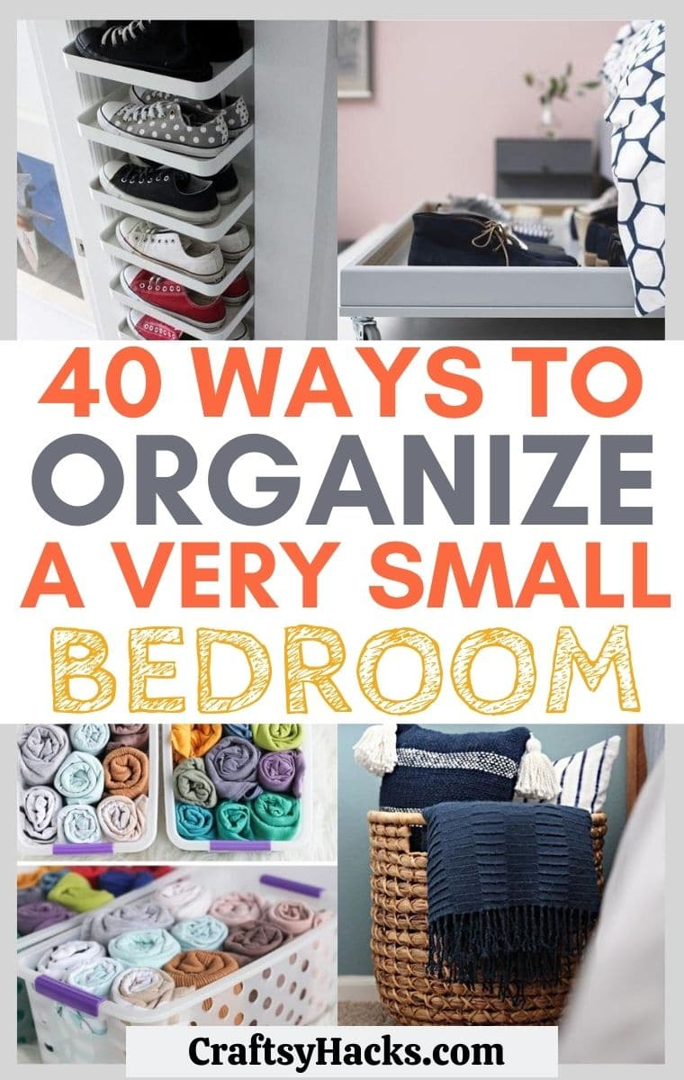 organize a very small bedroom