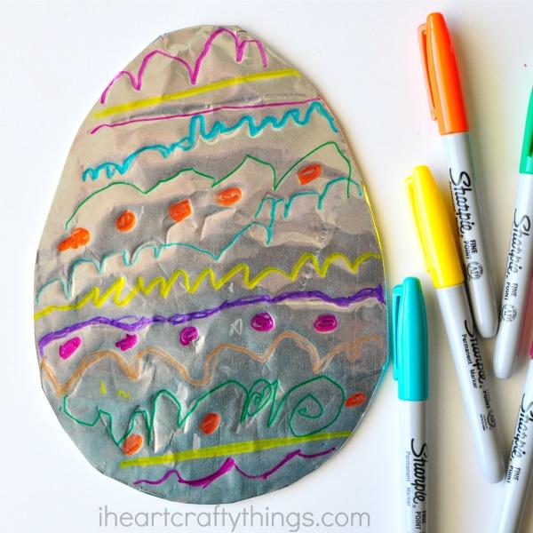 Tin Foil Easter Egg Art