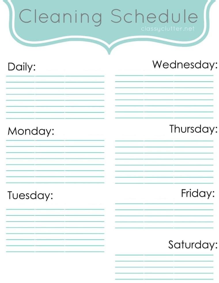 Draft a Schedule