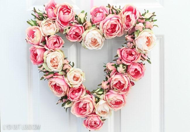 Floral Valentine's Day Wreath