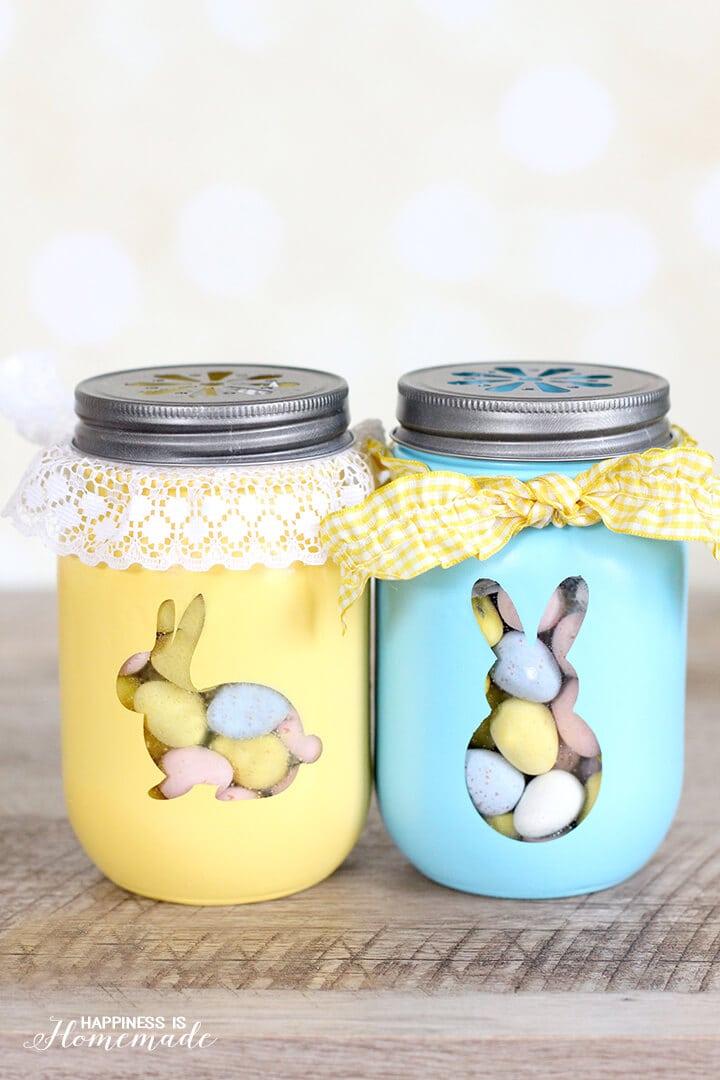 Easter Bunny Treat Jars