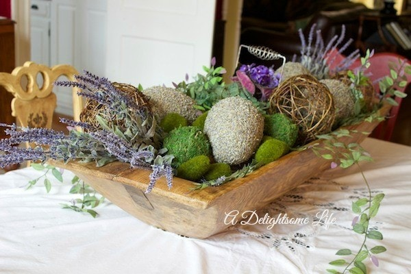 Dough Bowls with Floral Arrangement