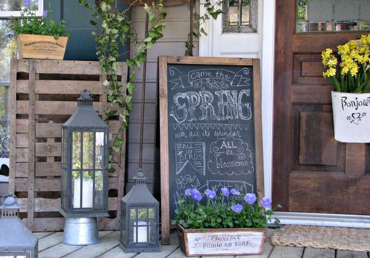 porch chalkboard