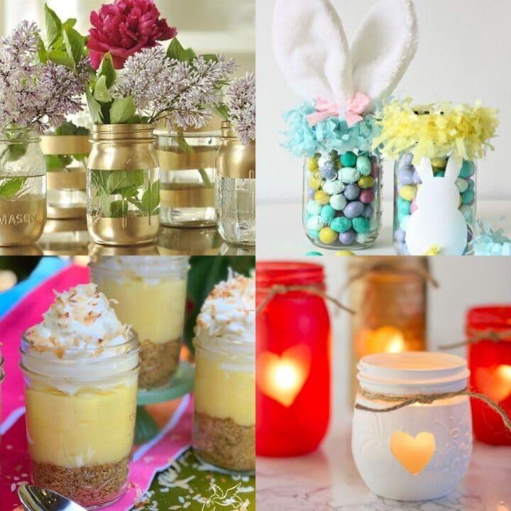 20 DIY Spring Mason Jar Ideas to Decorate Home