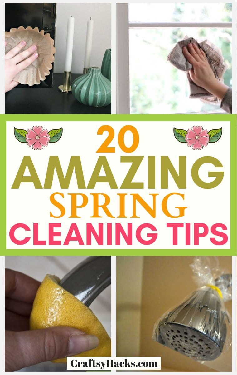 20 Amazing Spring Cleaning Tips