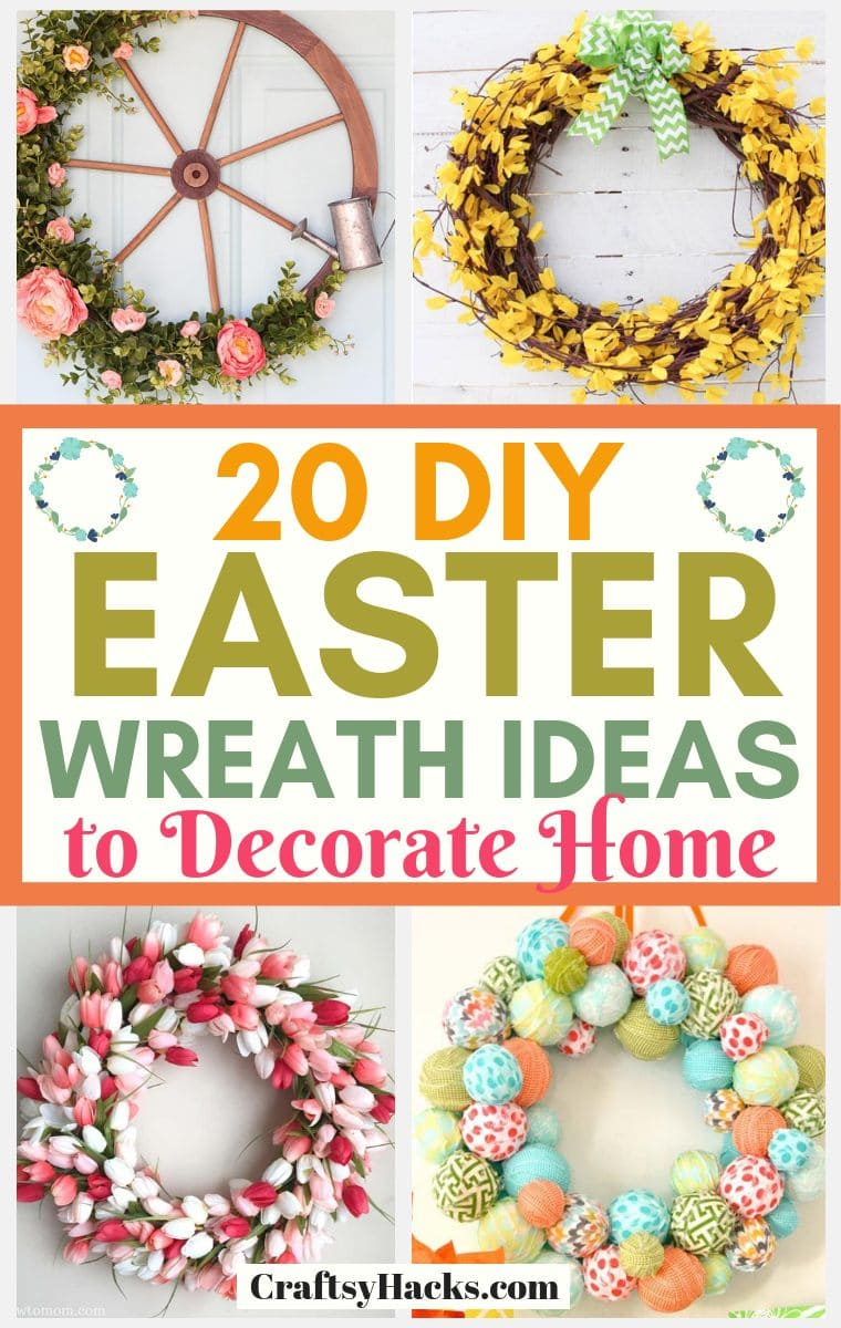 20 Diy Easter Wreath Ideas To Decorate Home Craftsy Hacks