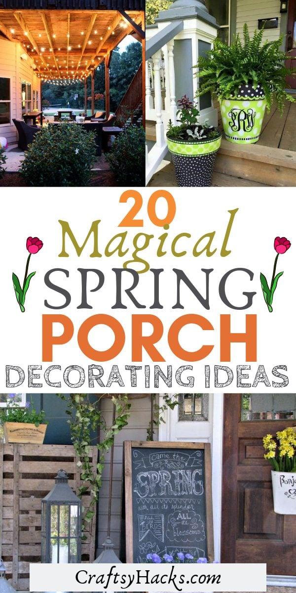 20 magical spring porch decorating ideas