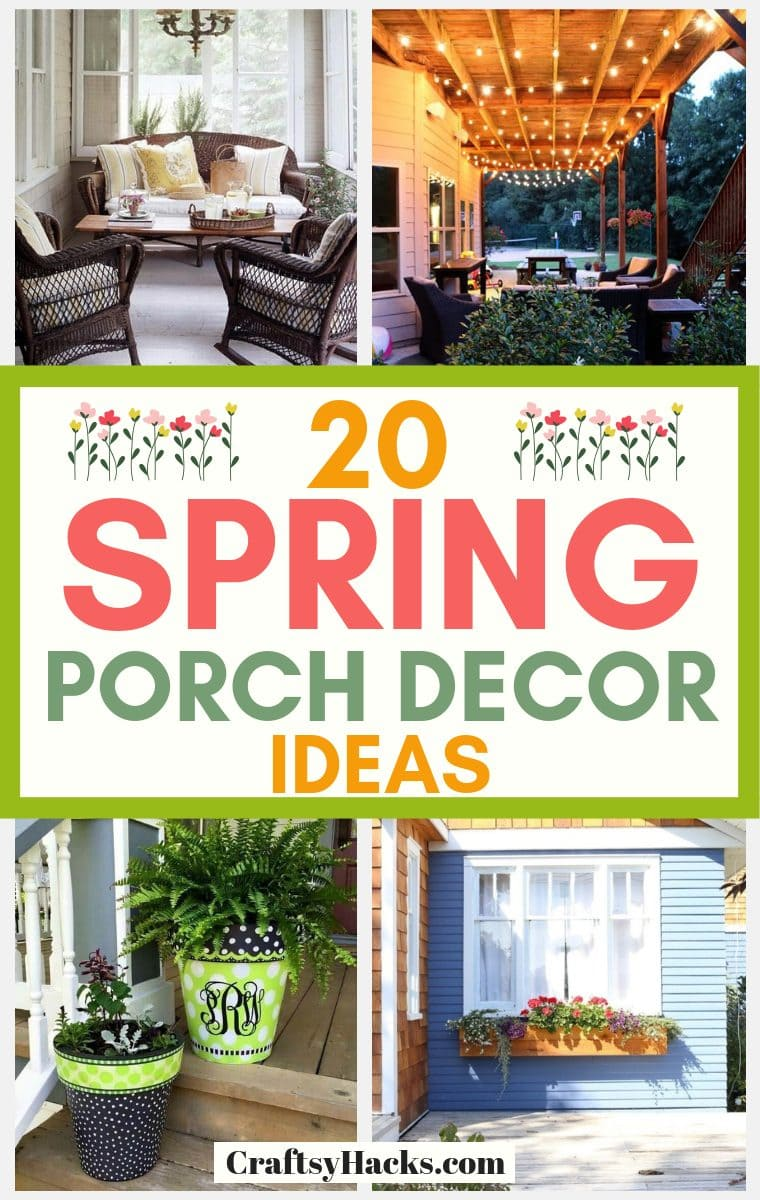 20 Spring Porch Decorating Ideas