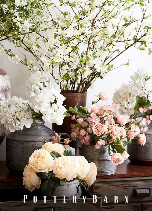 Pots with Blooming Flowers