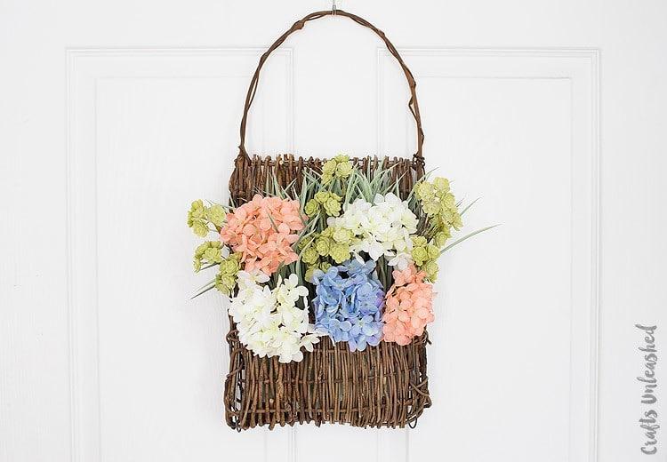 Floral Door Basket