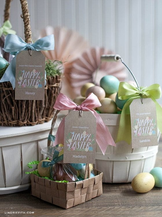 Easter Basket with Printable Tags