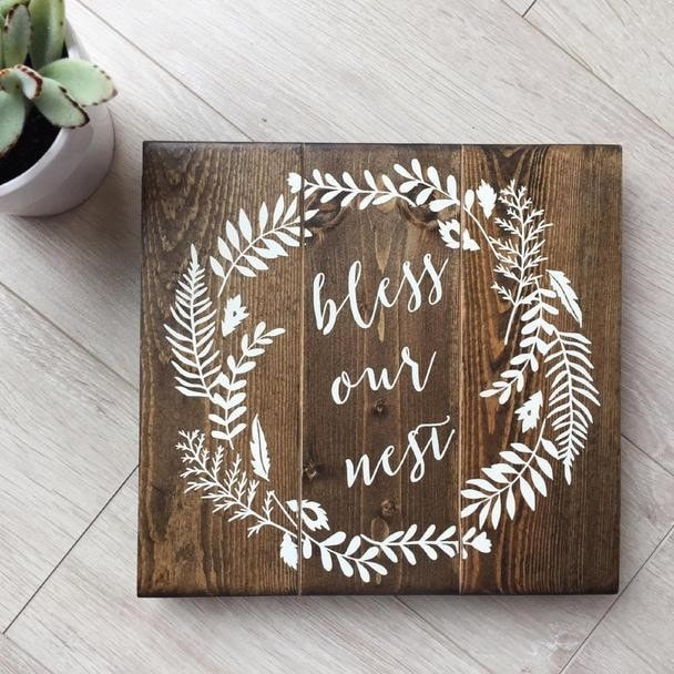 Painted Wood Décor With Text
