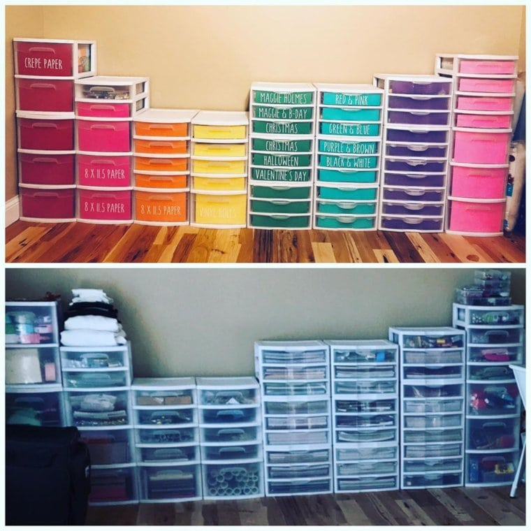Colorful Drawer Units