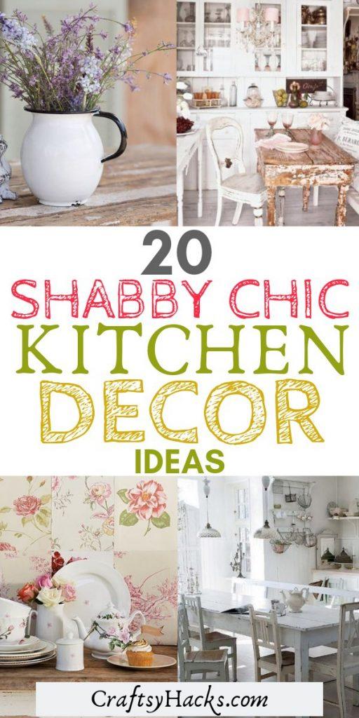 20 shabby chic kitchen decor ideas