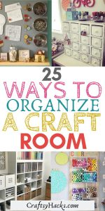 ways to organize a craft room