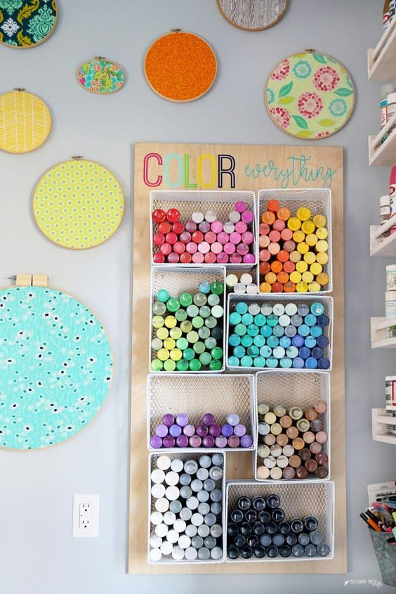DIY Paint Organizer