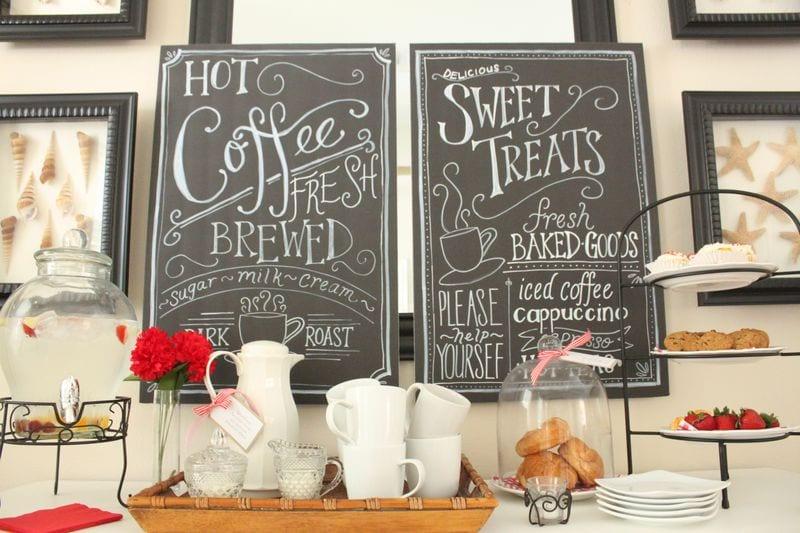 Coffee-house-style Chalkboard