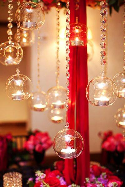 Hanging Glass Globe Candle Holder