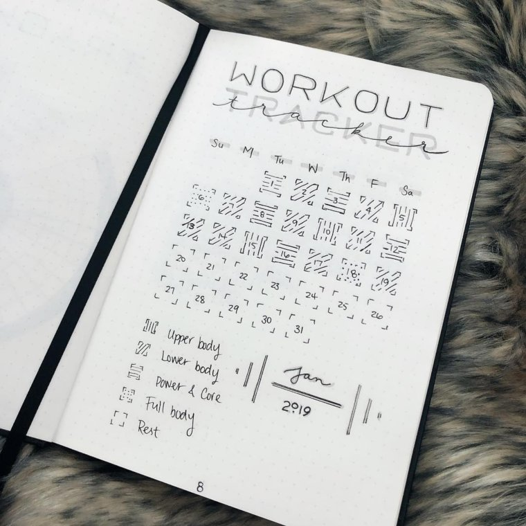 Black and White Workout Tracker