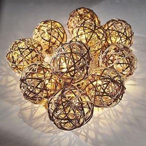 Rattan Ball Fairy String Lights