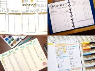 20 Creative Finance Tracking Bullet Journal Ideas