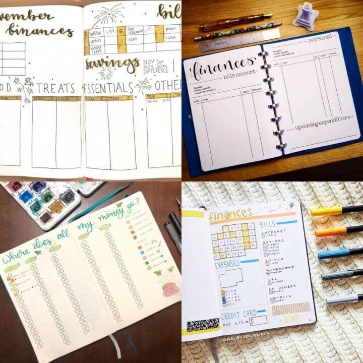 20 Creative Finance Tracking Bullet Journal Ideas