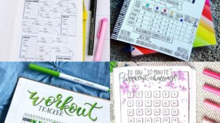 20 Fitness Bullet Journal Spreads for Losing Weight