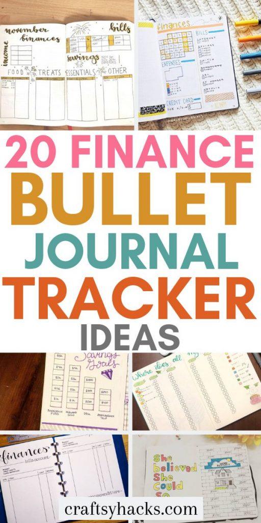 20 finance bullet journal tracker ideas