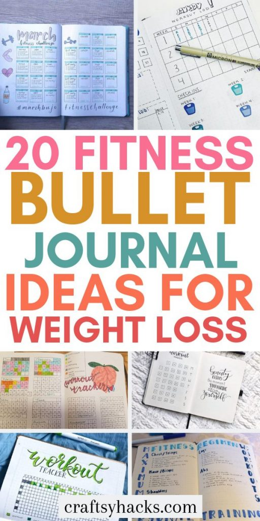 20 fitness bullet journal ideas for weight loss